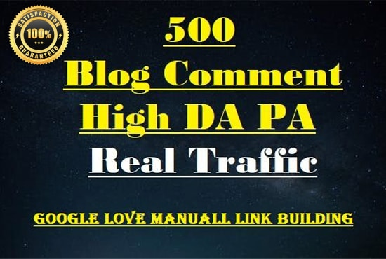 I wil do 500 blog comments Dofollow High DA PA high quality Backlinks