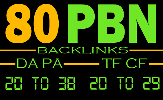 Build 80 PBN Unique Dofollow homepage high DA PA permanent backlinks
