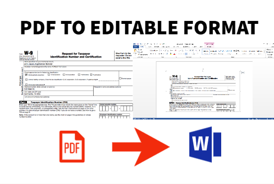 I will do data entry work and PDF/JPEG to editable format word,excel,…ect