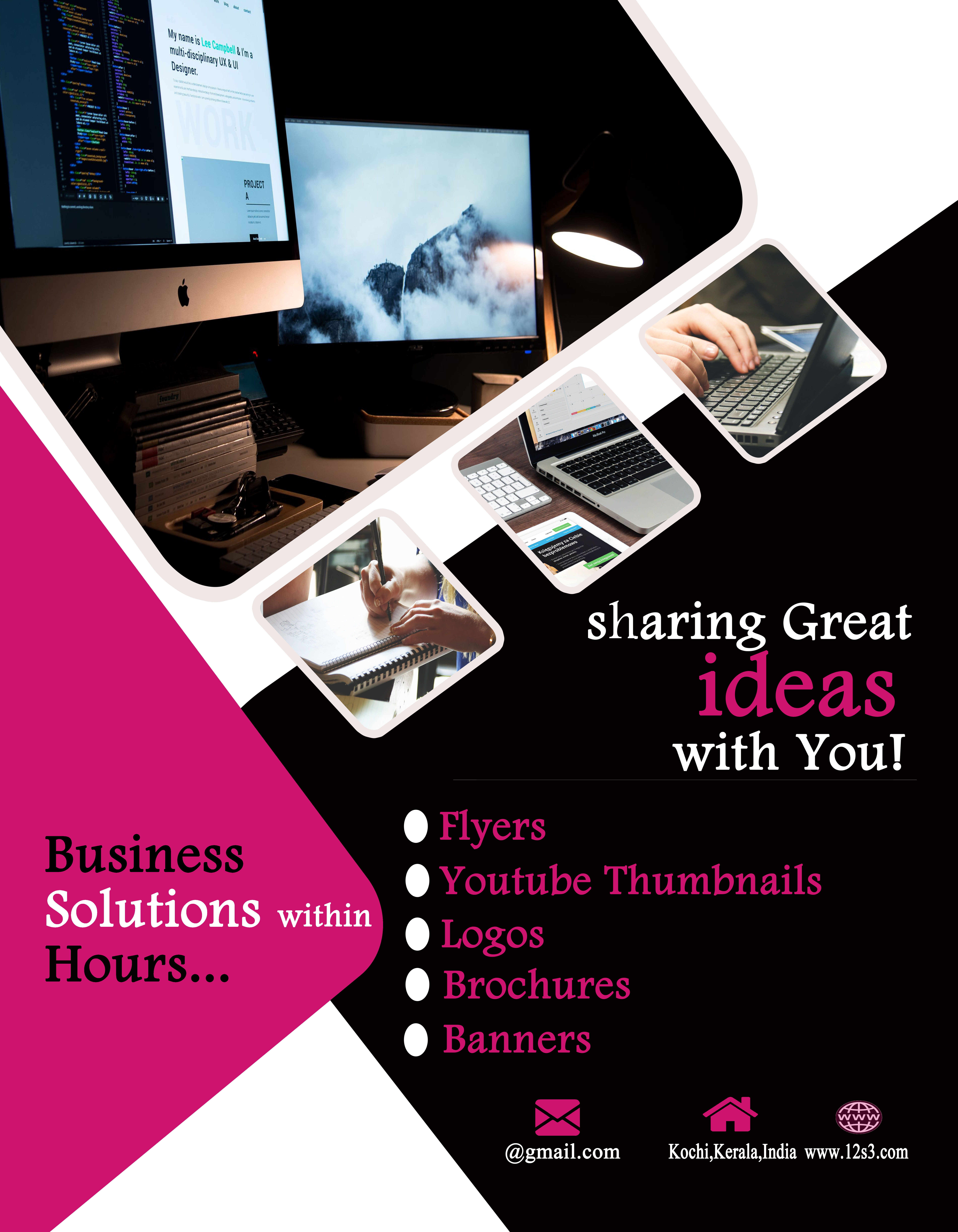 I will do a flyer, bifold, trifold, brochure design @ low price