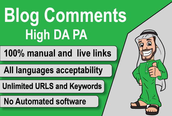 I will perform 150 high quality backlinks with unique domains using blog comments