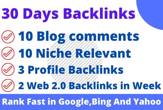I will submit 30 days drip feed SEO link building service