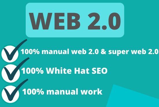 I will create manually 10 super web 2 0 contextual backlinks