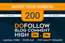 200 blog comments backlinks on actual page