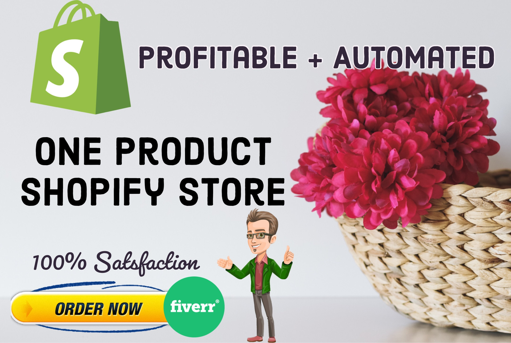 I will create an one product premium shopify store