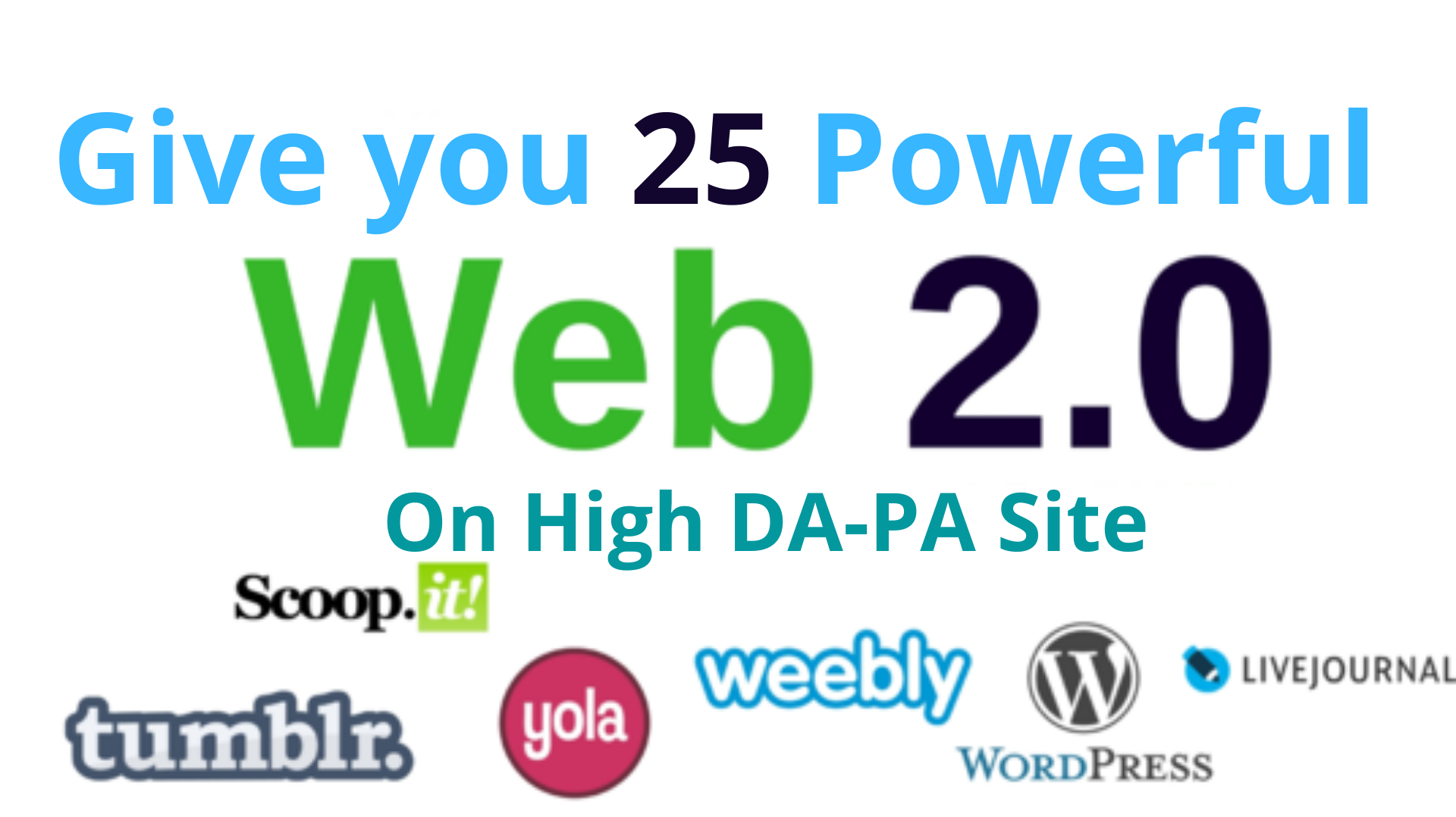 Provied 25 WEB2.0 Blogs with Relevant Article & Permanent BackLinks