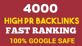 I will Provide 4000 High PR Do follow Backlinks
