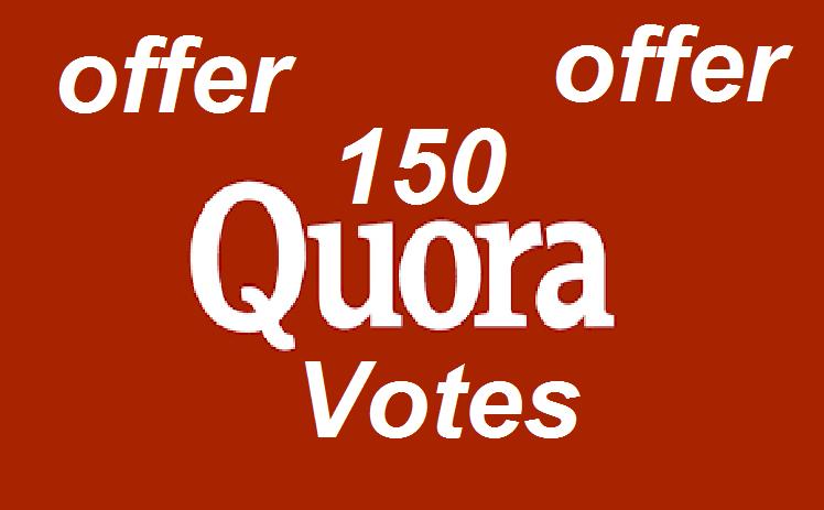 Get you 150 Quora Upvotes Worldwide human genuine users