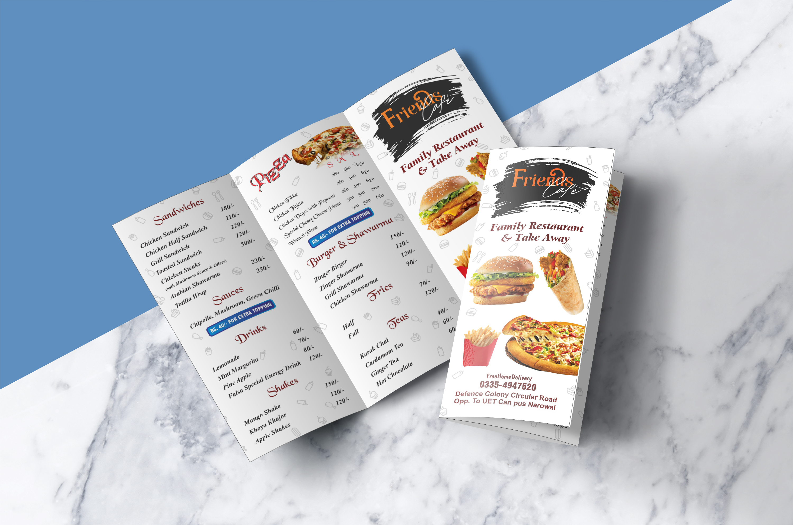 I will design professionally food, restaurant, menu, ready to print