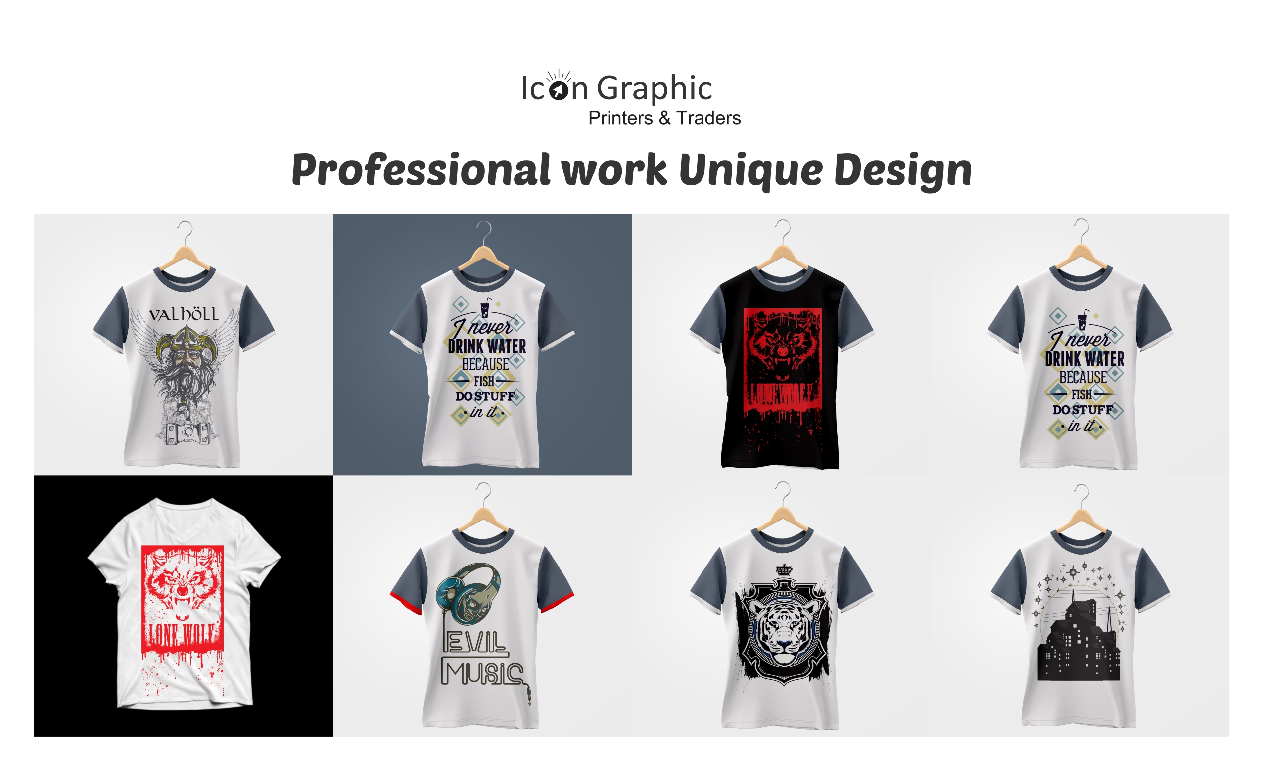 I will design an unique and professional t shirt with your choice
