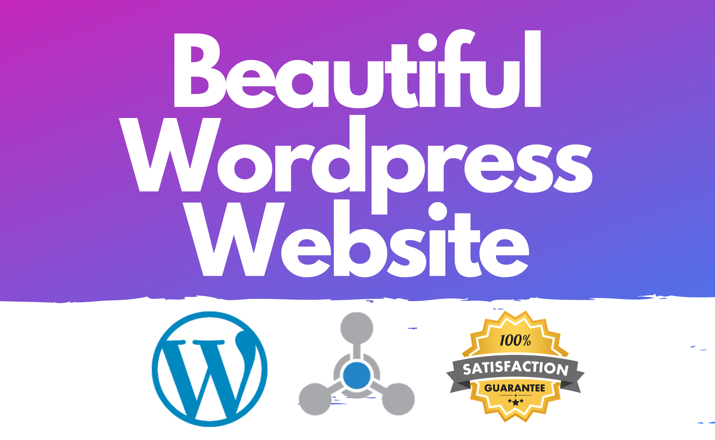 I will make a Beautiful WordPress Website