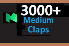 Give You Real 3000 Medium Claps