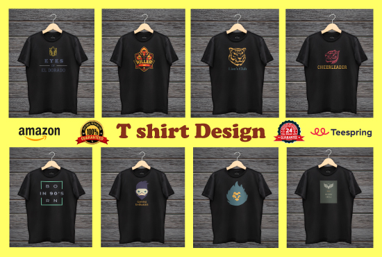 I'll design Professional & trendy t-shirt,  custom t-shirt,  typography & Christmas T shirt design