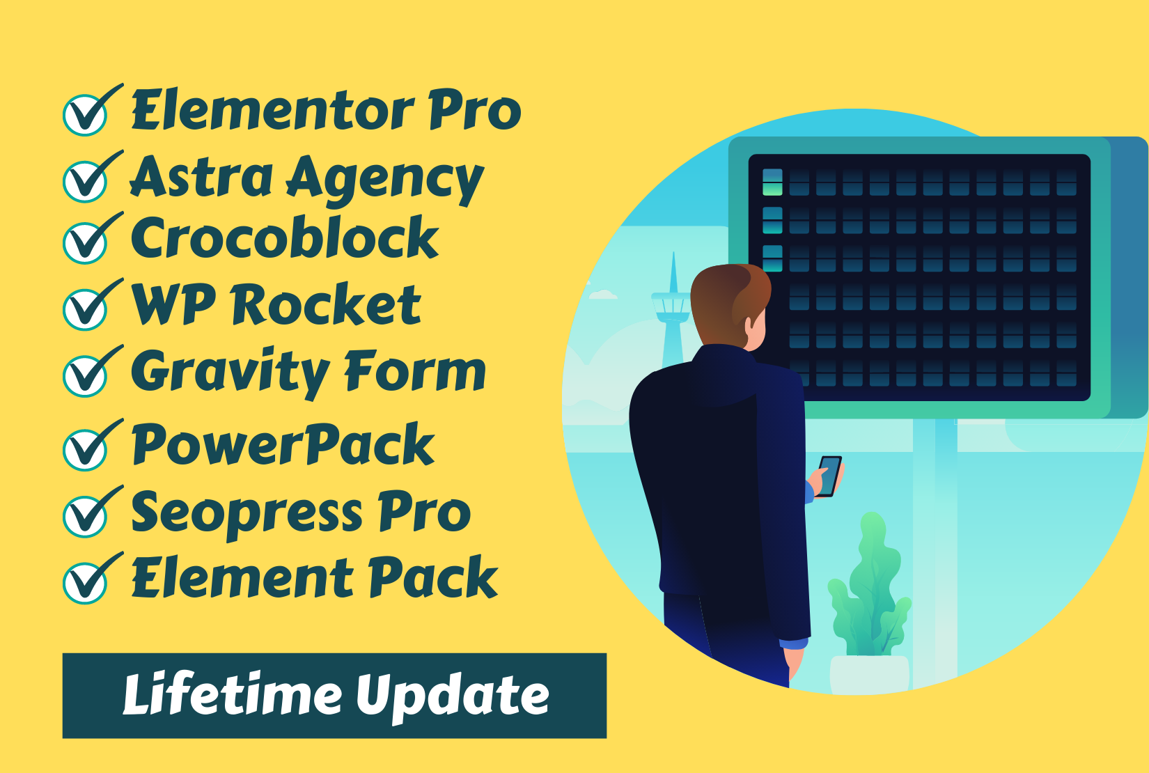 Install Elementor Pro and Astra Agency Bundle and Crocoblock WP Rocket with Official License
