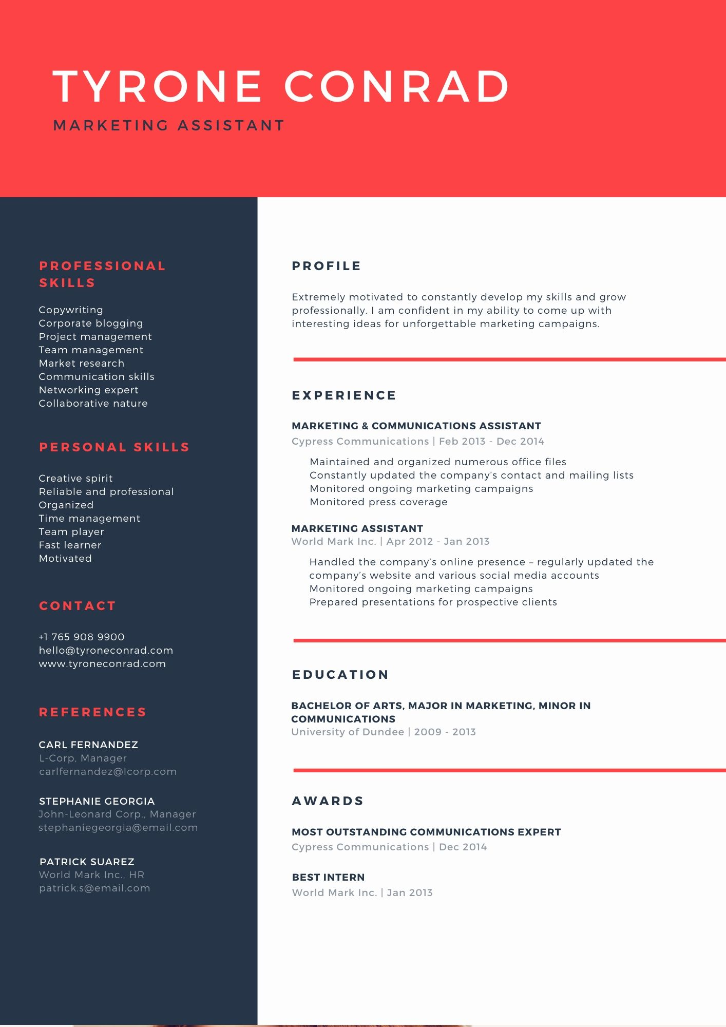 I can design your creative and impressive resume