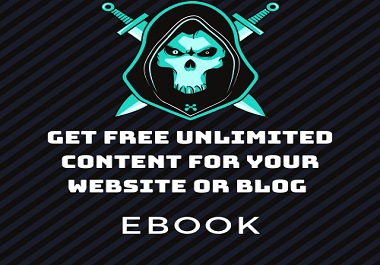 Free unlimited articles and content for your blog or website EBOOK