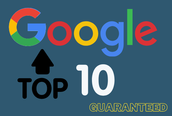Google first page ranking on your website