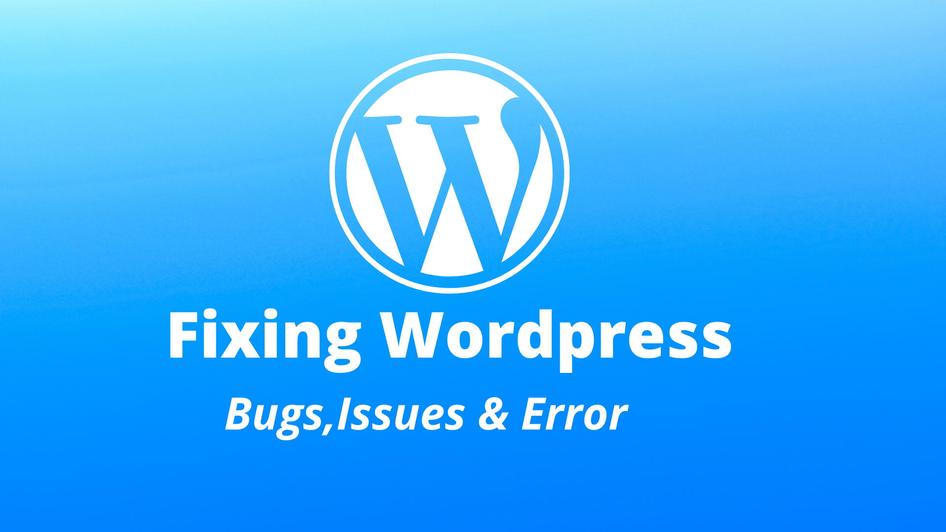 fix wordpress issues errors or problems