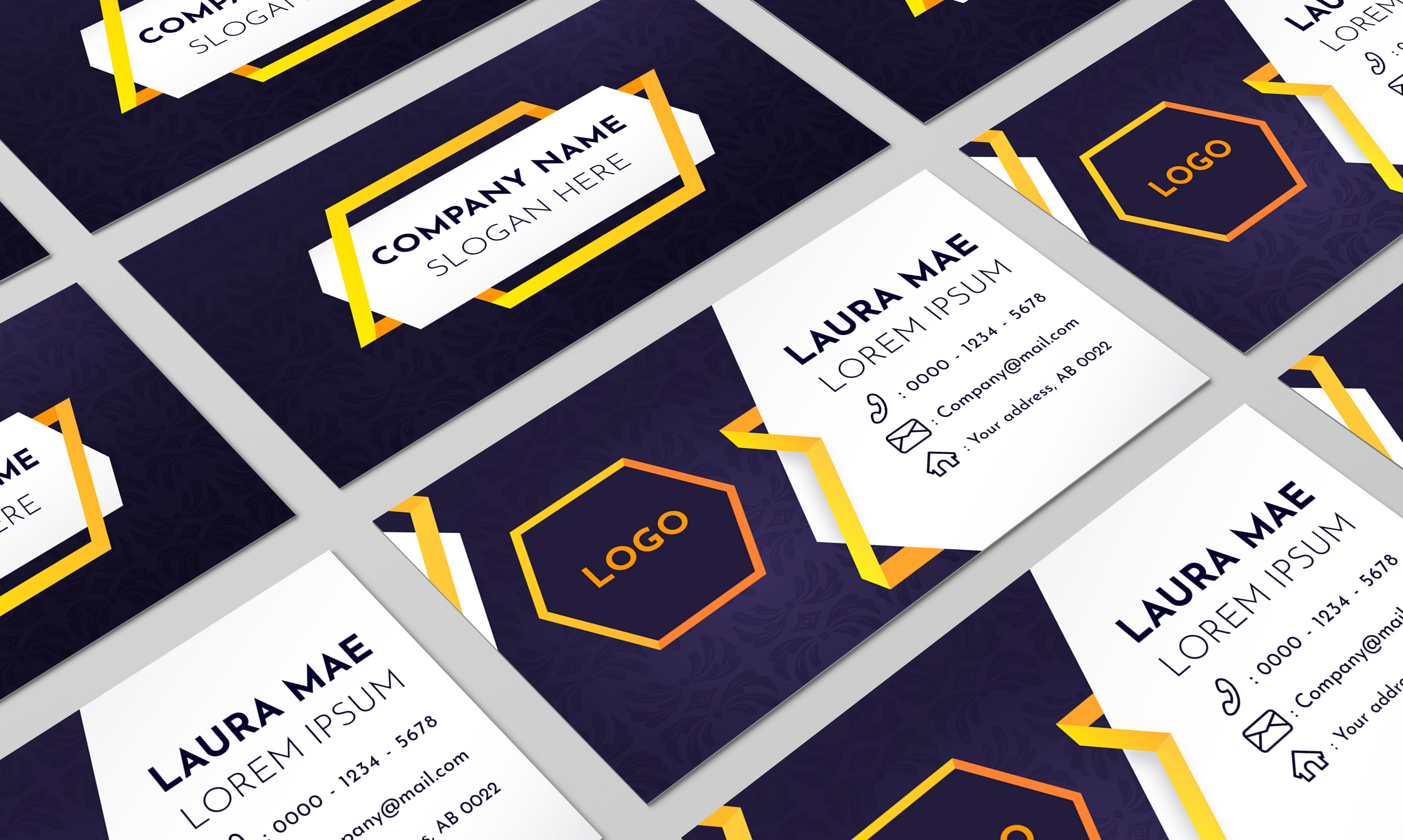 Luxury business card and business logo design