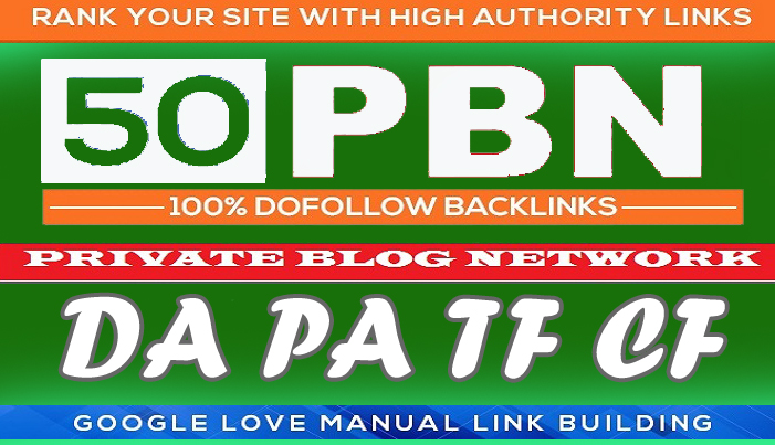 50 Homepage PBN Posts backlinks high Tf Cf Da Pa get to the top of Google's SERP