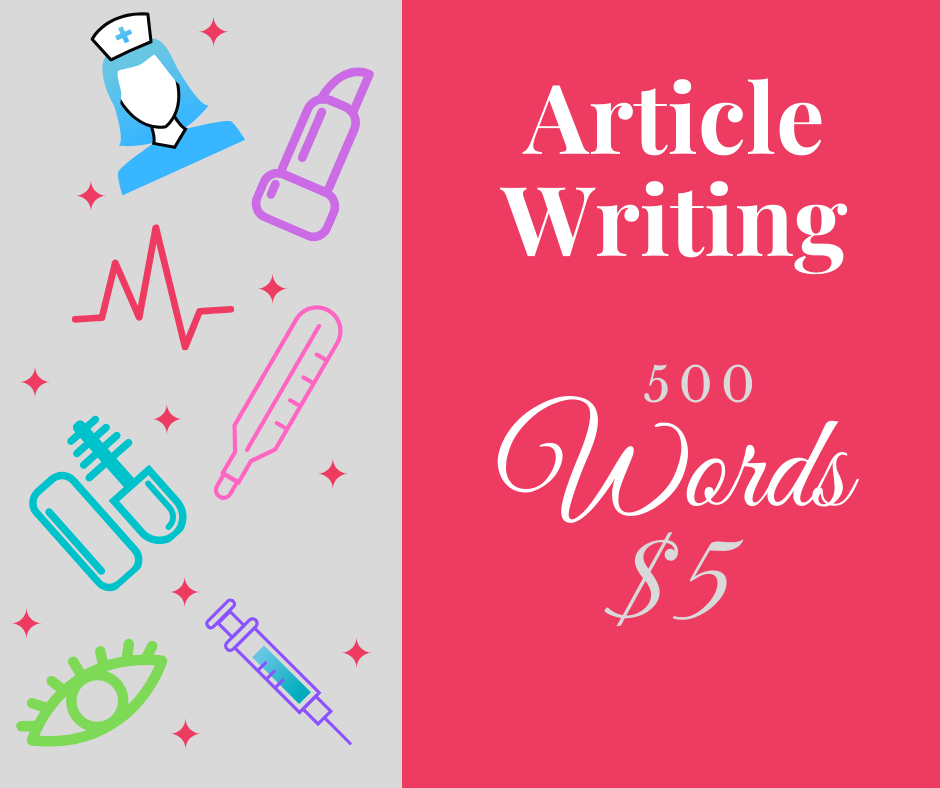 Write A Blog Or SEO Article 10 x 500 Words On Health & Beauty