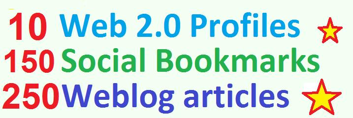 Mini Booster Social Bookmarking,  Web Profiles,  High PR Weblog Article Backlinks for Google traffic