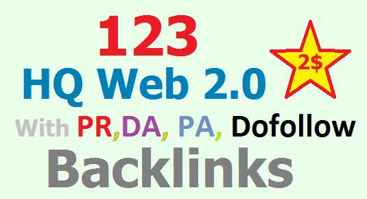 123 Panda Safe 4.2 Backlinks with PR, DA, PA, do follow Web 2.0 Blogs for Organic traffic