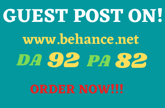 Submit your guest post on behance. net