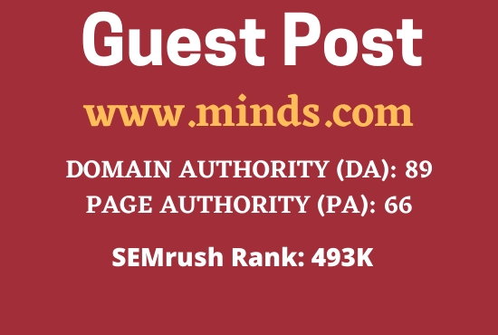 Write and Publish a guest post on minds. com