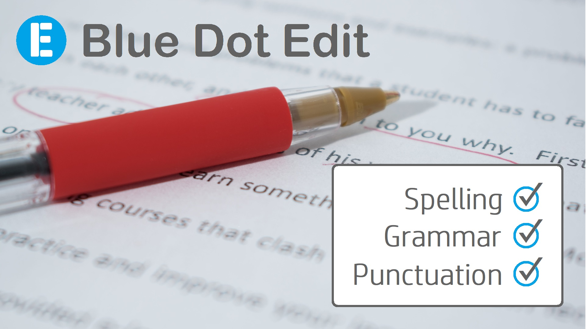 Proofread and edit 1,000 words in English
