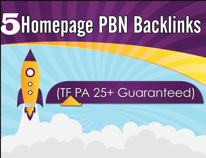 I will build 5 pbn permanent backlinks with high da
