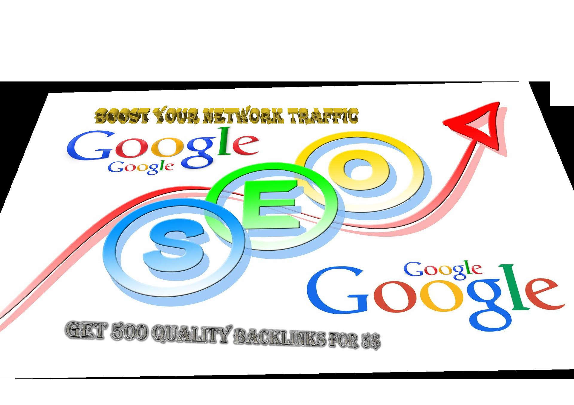 I will provide 500+ Do-Follow PR4-PR7 backlinks at minimal rate