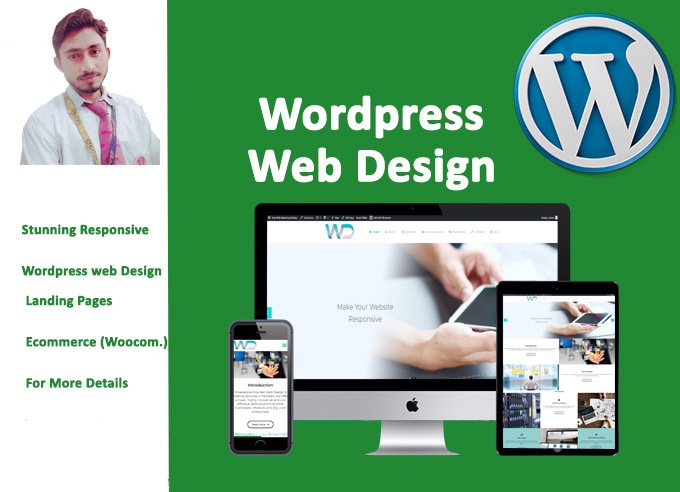 I Will Design,  redesign and customize wordpress website