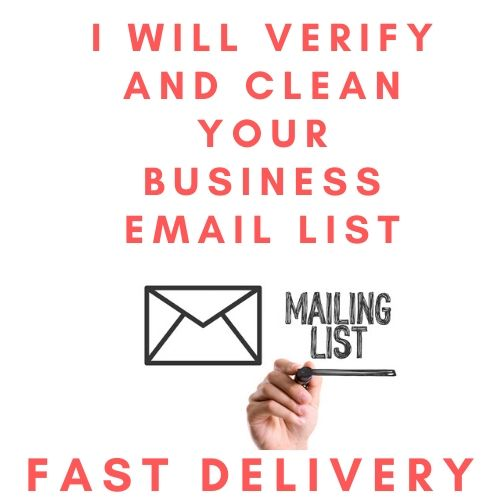 Clean and Verify your business emails Services