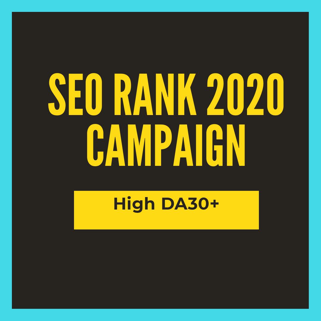SEO campaign backlinks high DA 2020