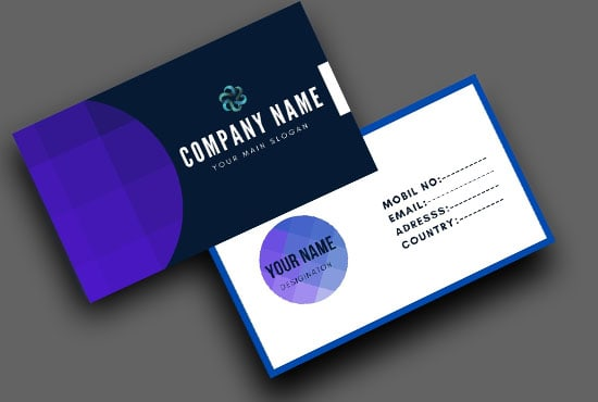 I will design unique and creative business card within 24 hours