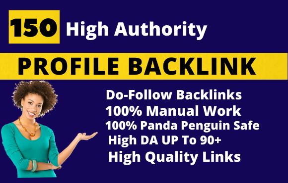 I will Create 150 High Quality SEO profile backlink