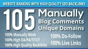 will make 105 Manually Blog comments