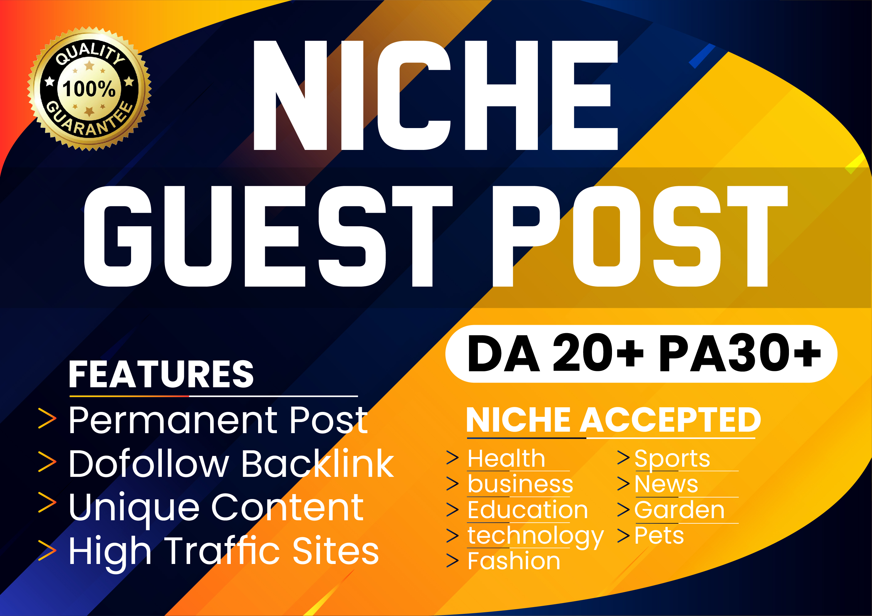 I will Publish Niche Guest Post On High DA PA Real Sites