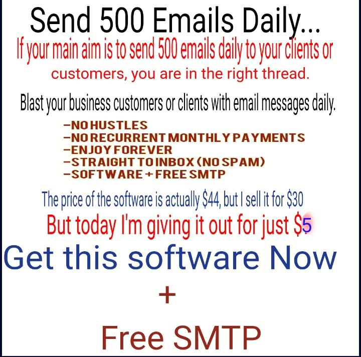 Bulk Email Sender + Free Smtp to Send 500 Emails Daily