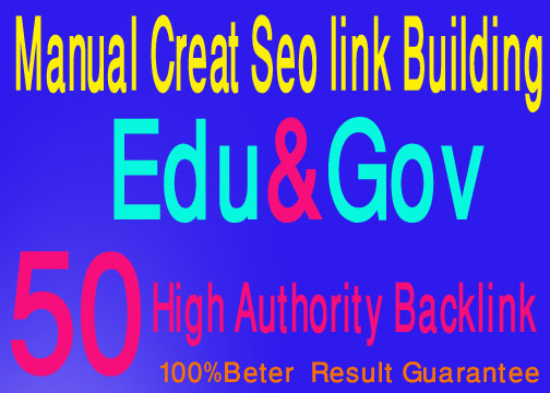 Create 50 high authority edu gov backlinks