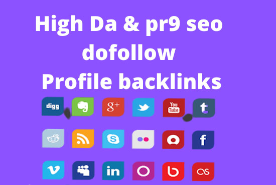 Create manually 50 high dadofollow profile backlinks with high pr