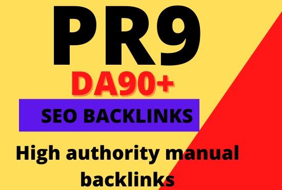 Create 30 pr9 seo authority dofollow backlinks