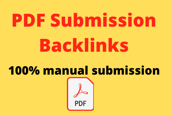 i will submit pdf on top 25 pdf submission sites high DA PA