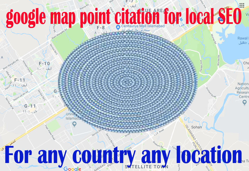 create 2000 google point map citation for local SEO