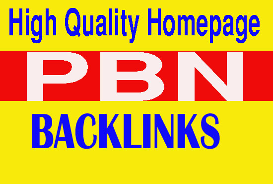 Create 50 High quality homepage pbn backlinks on high quality pbn sites
