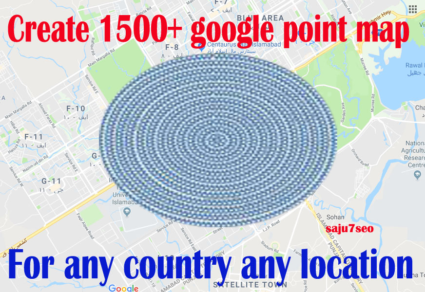 create 1500 google point map citation for local SEO