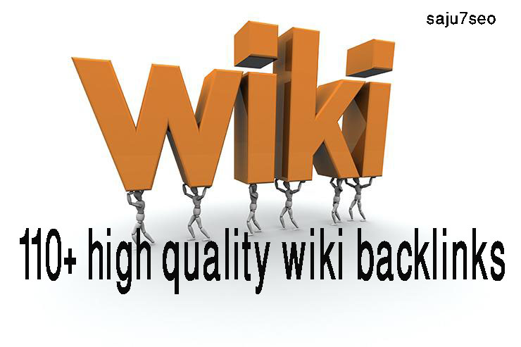Manually create 50+ high quality wiki backlinks