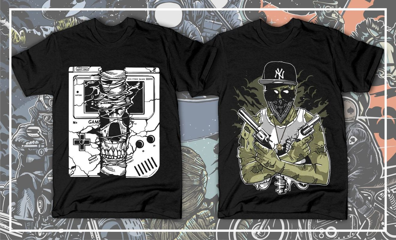 Creat amazing t-shirt design for you with in 24 hours