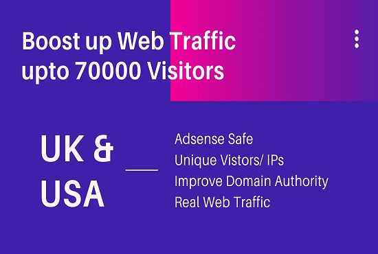 boost up web traffic upto 50000 visitors